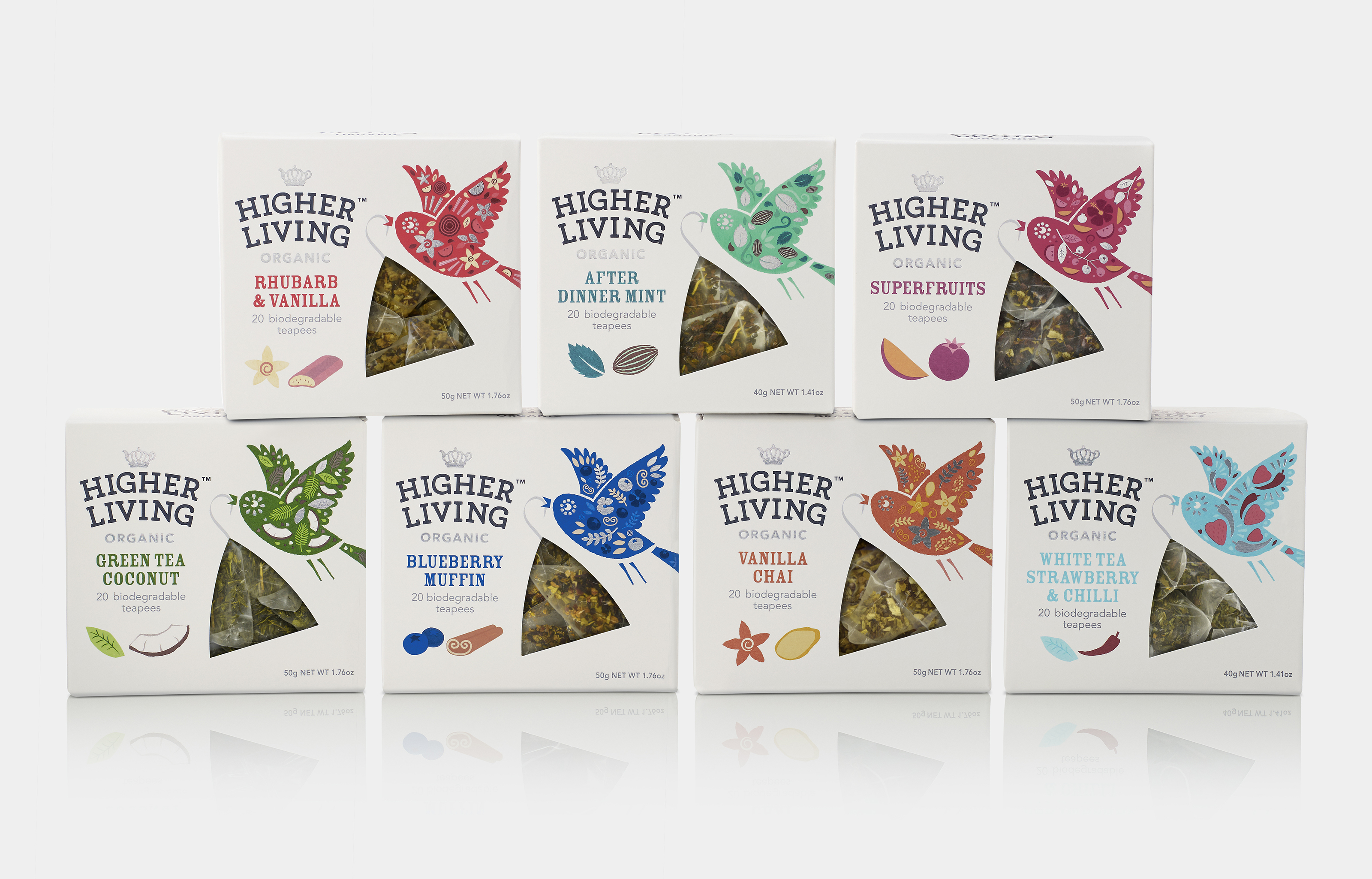 Higher Living Teapees Range