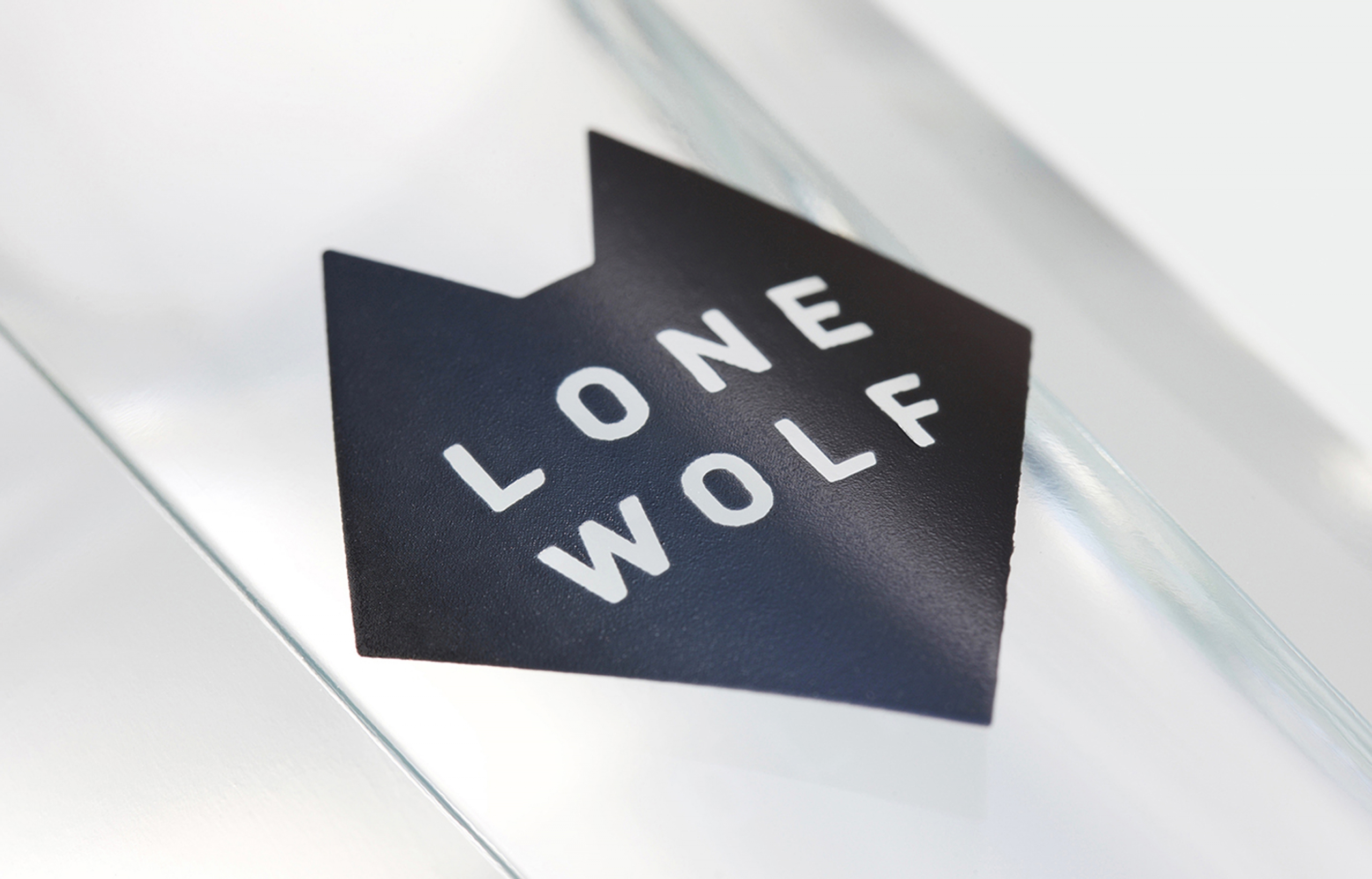 Lonewolf Logo On Bottle