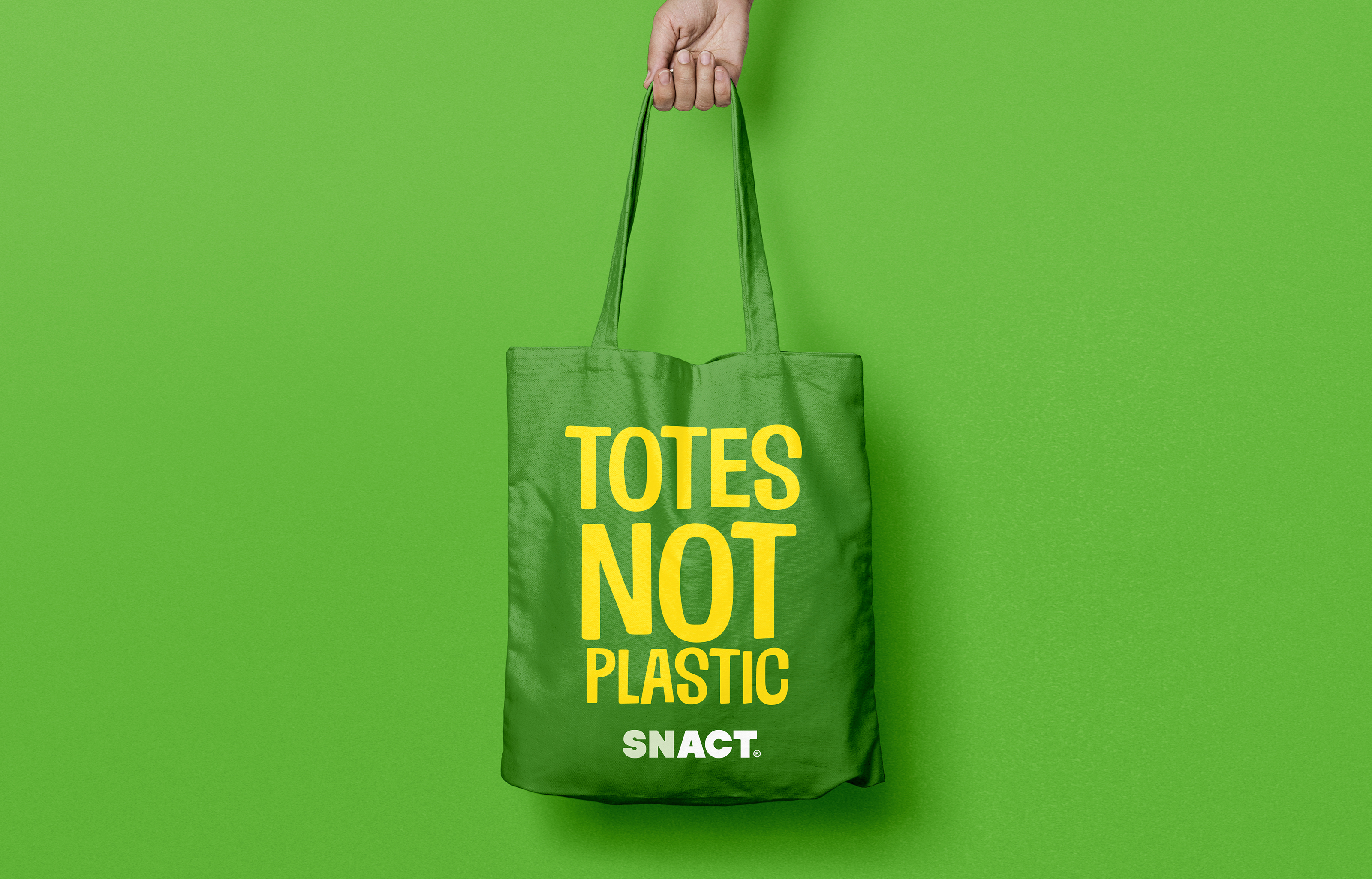 Snact Totes Not Plastic